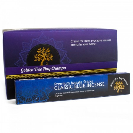 Classic blue Incense - Golden Tree Nag Champa